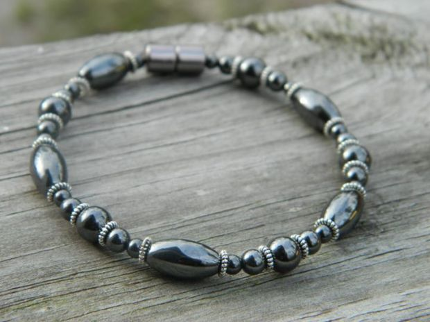 Hematite and Pewter Bracelet