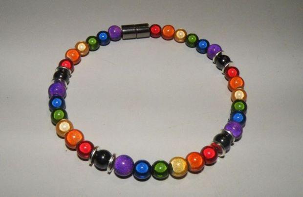 Rainbow Brite Magnetic Hematite Bracelet